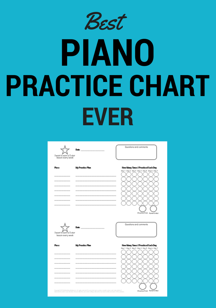 This is an image of Ridiculous Printable Music Practice Log