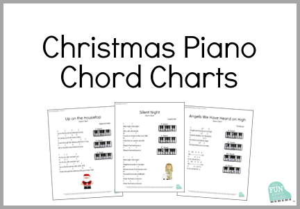 Christmas piano chord charts for beginner kids