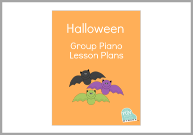 Halloween group piano lesson plans for beginners